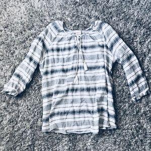 NWOT Striped Linen Tunic